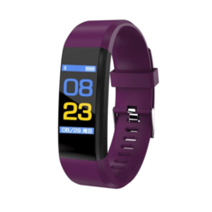 Smart Band Fitness Tracker Heart Rate Tracker Sports Record Blood Pressure Testing Smart Bracelet purple 245x20x12.8mm