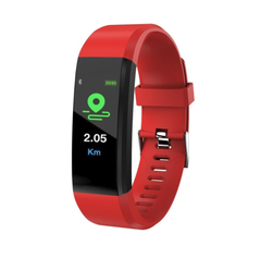 Smart Band Fitness Tracker Heart Rate Tracker Sports Record Blood Pressure Testing Smart Bracelet red 245x20x12.8mm
