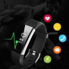 Smart Band Fitness Tracker Heart Rate Tracker Sports Record Blood Pressure Testing Smart Bracelet black 245x20x12.8mm