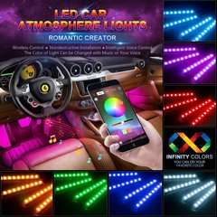 48 LED Bluetooth APP Control Atmosphere Interior Lights Multicolor Music Car Led Light Strips
