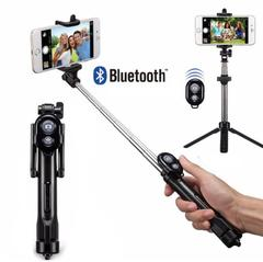 All In One Tripod Monopod Selfie Stick Bluetooth With Button Selfie Stick For iPhone Android Stick black normal