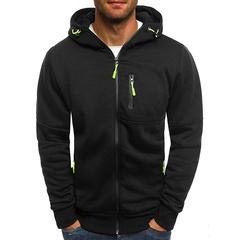 M&J Hoodies Men New Fashion Hoodies Men Personality Zipper Sweatshirt Male Tracksuit Hip Hop Hoodies black m