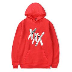M&J XXXTentacion Hoodies Men/Women Casual Pullover Streetwear Sweatshirt Male Hoodie red m
