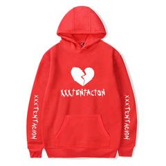 M&J Fashion Hoodies Men/Women Casual Hip Hop XXXTentacion Sweatshirt Vibes Forever Tracksuit Fleece red m