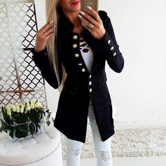 Suit Jacket Female Blazers Women Cardigan Women Blazer Slim Coats Tops Office Lady Work Blazer black m