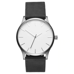 NEW Men Sport Watches Men's Quartz Clock Man Army Military Leather Wrist Watch black white 45mm