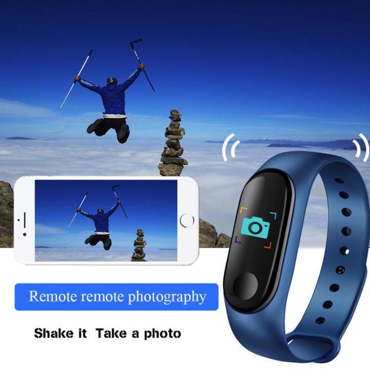 Color Screen Smart Watch Sport Fitness Bracelet Waterproof Blood Pressure Activity Tracker Watches blue one size