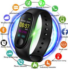 Color Screen Smart Watch Sport Fitness Bracelet Waterproof Blood Pressure Activity Tracker Watches black one size