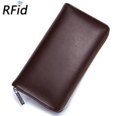 Leather Blocking Credit Card Holder Men Travel Passport Long Wallet Women ID Holder 36 Cards Purse coffee 20*10.5*3cm