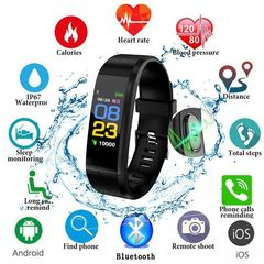 Smart Band Fitness Sports Blood Pressure Heart Rate Monitor Smart Watch Wrist Band Bracelet black one size