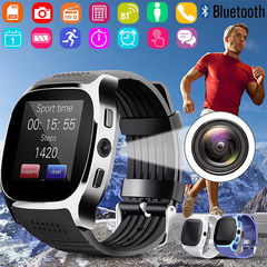 Smart Watch Camera Call Support SIM Card Memory Card Compatible Android IOS Adult Children Watches black one size