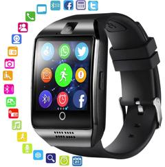 Q18 Smart Watch With Touch Screen Camera Support TF Card Bluetooth Smartwatch For Android IOS Phone Black One size