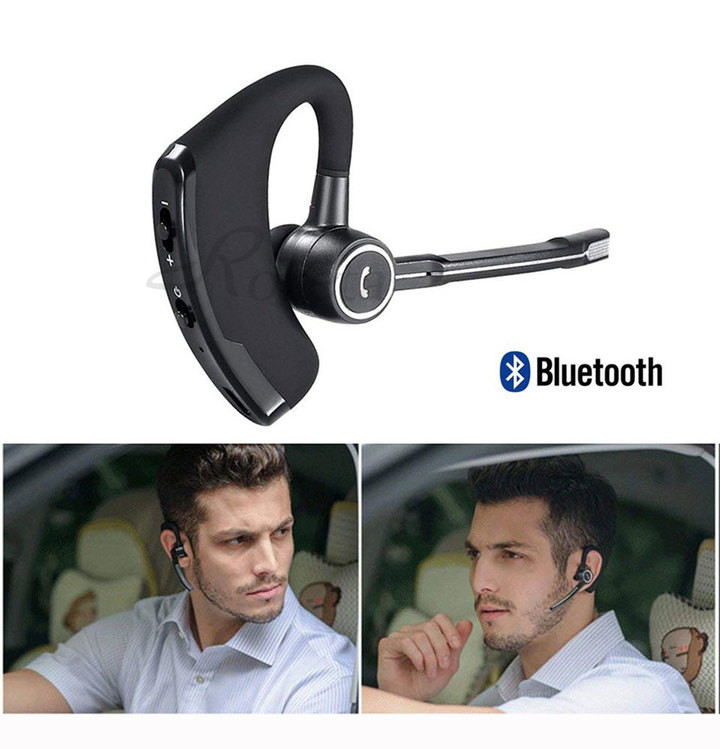 V8S Business Wireless Headset Bluetooth Headphones Handsfree With Microphone Stereo Music For Phones Black normal