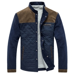 M&J Spring Autumn Men Jacket Baseball Uniform Slim Casual Coat Men Brand Clothing Fashion Coats dark blue&coffee m