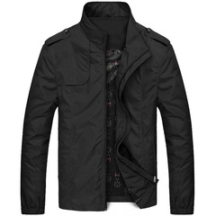 M&J High Quality Jacket Men Fashion Casual Men Jacket  Bomber Office Men Coats Plus Size black m