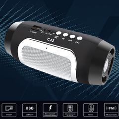 Portable Wireless Bluetooth Speaker Stereo Soundbar TF Music Subwoofer Column Speakers black 2*3w C65