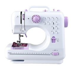 12 Stitches Sewing Machine Multifunction Double Thread Speed Free-Arm Crafting Mending Machine white 10.5