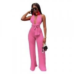 Multi Way Wear Wrap Jumpsuits Bandage Sexy Rompers Women Jumpsuit Elegant Wedding Party Jumpsuits pink s