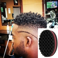2Pcs Oval Double Sides Afro Wave Magic Hair Twisting Locks Dreadlocks Curl Brush Sponge Tools random 14.5*9.5*5.5cm