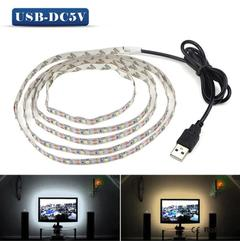 USB LED Strips SMD Light Strings Christmas Desk Home Decor Lamp Tape TV Background LED Lighting warm white 3 Meter 5V