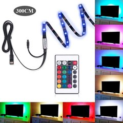 USB LED Strip Flexible Lights Lamp Remote control Desktop Decor Tape TV Background LED Lighting rgb with 24keys remote 5 meter waterproof 5v