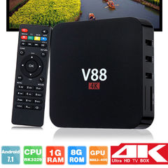 V88 Android TV Box Latest KD Android7.1 OS 1GB RAM 8GB 1080P WiFi HDMI Smart TV Box
