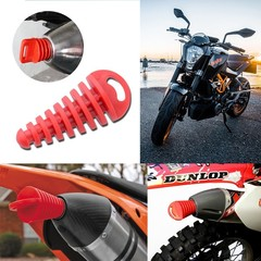 Exhaust Muffler Move Blow-down Silencer Mute Fit Motorbike Motorcycle Exhaust Pipe Muffler Silencer red 8.7*3.8cm