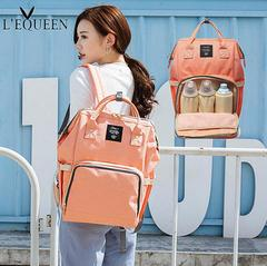 Fashion Mummy Maternity Nappy Bag Brand Large Capacity Baby Bag Travel Backpack Designer Nursing Bag orange pink 25*15*40cm