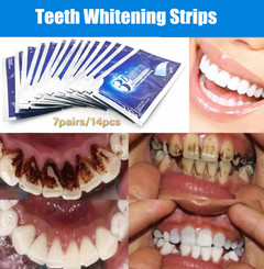 14Pcs/7Pairs 3D White Gel Teeth Whitening Strips Oral Hygiene Double Elastic Strips Whitening Dental as picture