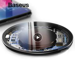 Baseus Qi Wireless Charger For iPhone X 8 Plus Wireless Charging Pad Samsung S9 S10+ Note 9 8 visible as picture