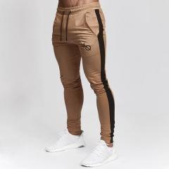 Men Joggers Casual Pants Fitness Men Sportswear Bottoms Skinny Sweatpants Trousers Gyms Jogger Pants khaki m