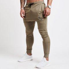 Solid Men Joggers Casual Pants Fitness Men Sportswear Sweatpants Trousers Gyms Jogger Track Pants khaki m