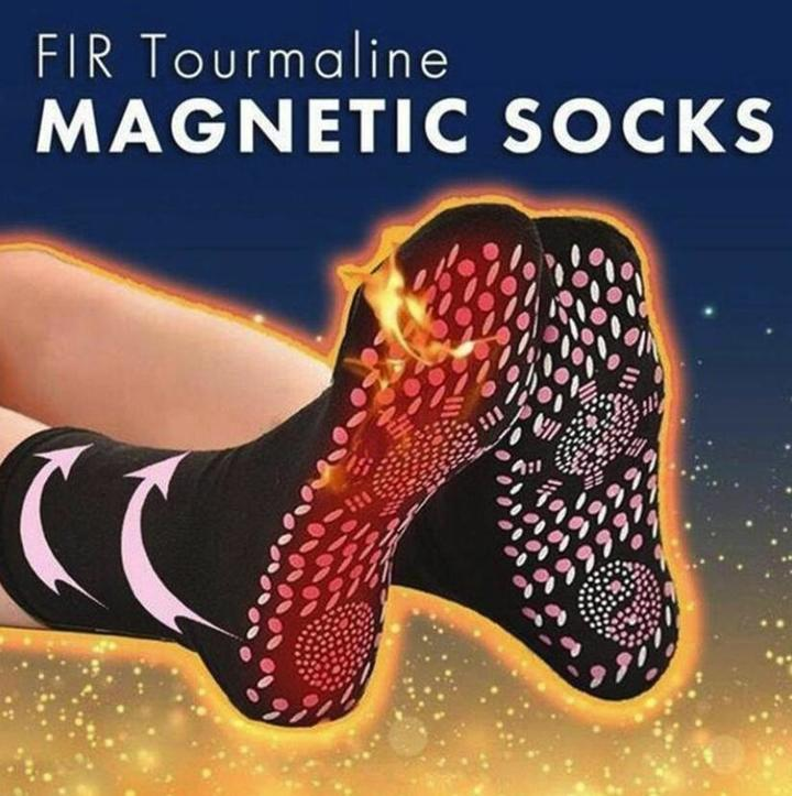 Women Tourmaline Self Heating Socks Help Warm Cold Feet Self-Heating Health Care Socks Magnetic