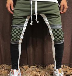 Men Gym Jogging Pants Sweatpants Men Casual Fashion Patchwork Pants man Hip Hop Trousers army green m
