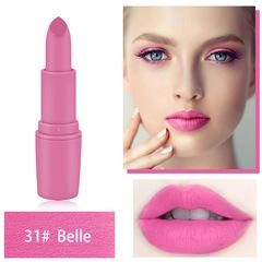 MISS ROSE Lipstick Matte Waterproof Velvet Lip Stick Sexy Red Brown Pigments Makeup Matte Lipsticks 31# Belle