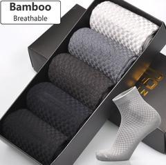 Men Bamboo Fiber Socks Brand New Casual Business Anti-Bacterial Deodorant Breathable Men Long Socks 1pair (random) free size 36-45