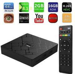 Android 8.1 Smart TV BOX RK3229 2G 16G Set Top Box 4K 3D Wifi Media Player TV Receiver Play Store