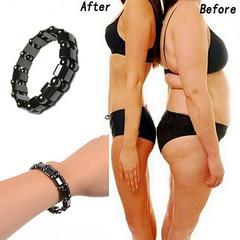 Weight Loss Stone Magnetic Therapy Bracelet Health Care Magnetic Hematite Bracelets For Men Women black elastic