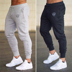 New Fashion Pants Men Casual Trousers Joggers Bodybuilding Fitness Sweat Time limited Sweatpants black m