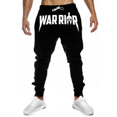 Men Joggers Casual Pants Fitness Sportswear Tracksuit Bottoms Skinny Sweatpants Trousers Gyms Pants black warrior m
