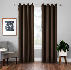 Modern Blackout Curtains Window Blinds Finished Drapes Window Blackout Curtains Living room  Blinds coffee 107*160cm