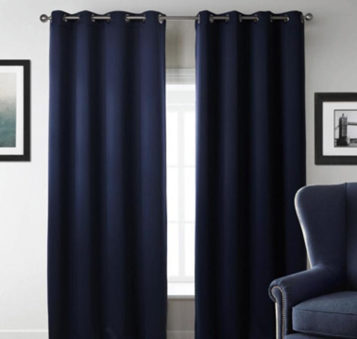 Modern Blackout Curtains Window Blinds Finished Drapes Window Blackout  Curtains Living room Blinds navy 107*160cm
