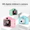 2 Inch HD Screen Chargable Digital Mini Camera Kids Cartoon Cute Camera Toys Child Birthday Gifts blue 8*6cm