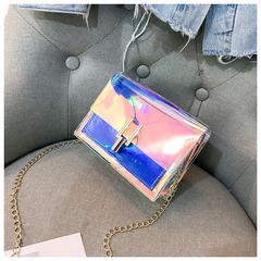 Women Handbags Fashion Laser Transparent Crossbody Bags Messenger Beach Bag New Design Shoulder Bags blue 17*6*14cm