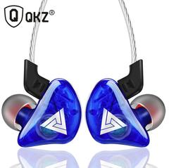 QKZ Earphones Sport Earbuds Stereo For Apple Xiaomi Samsung Music Cell Phone Running Headset DJ blue
