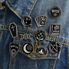 Witches Do Witch Ouija Spells Moon Pins Badges Brooches Lapel Pin Enamel Pin Bag Accessories 1pc random as picture
