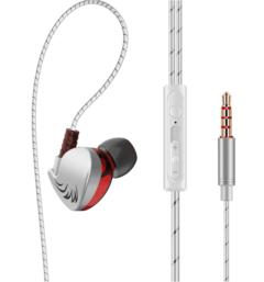 QKZ Stereo Earphone In-ear Headset Earbuds Bass Earphones For iPhone huawei Xiaomi Earphones silver