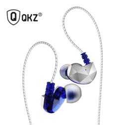 QKZ Wired Earphone Headphones for Phone In Ear Earphones Hifi Headset for Xiaomi Phone auriculare blue