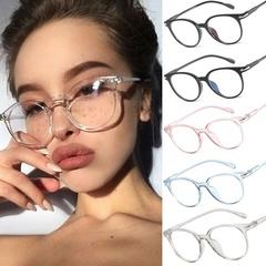 1Pc Spectacle Optical Frame Glasses Clear Lens Vintage Computer Anti-Radiation Eyeglasses Transparent Gray