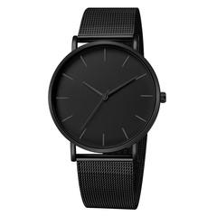Military Sport Analog Quartz Wrist Watches Men Stainless Steel Clock Wristwatch Lover Watches Gift all black 40mm